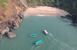 Boats arriving at Honeymoon Island-South Goa-India