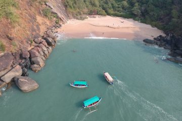 Boats arriving at Honeymoon Island-South Goa-India