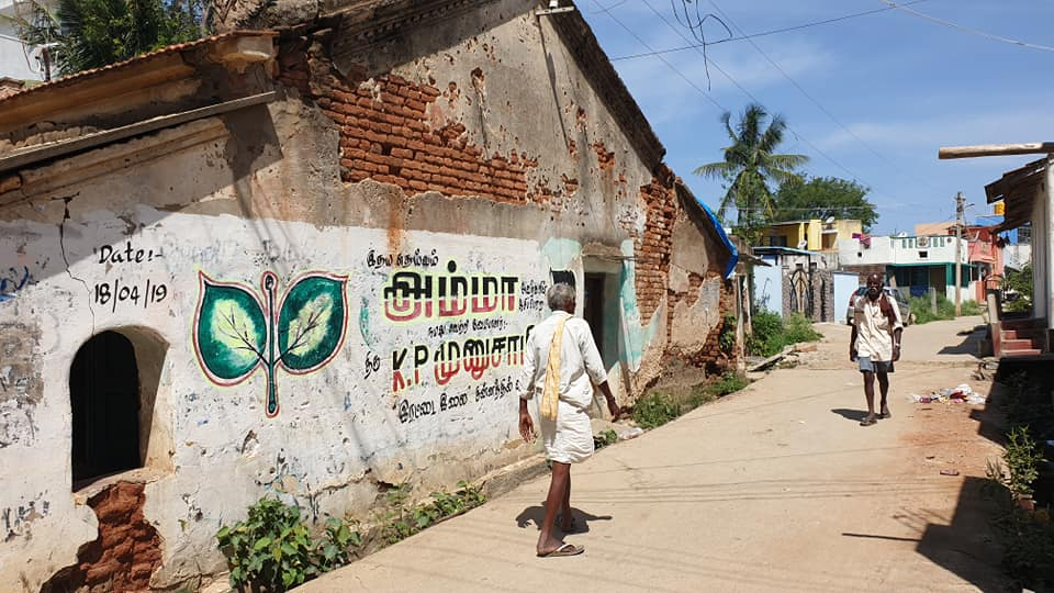 Political Party Messages and Paints on Walls- Houses in Thalli