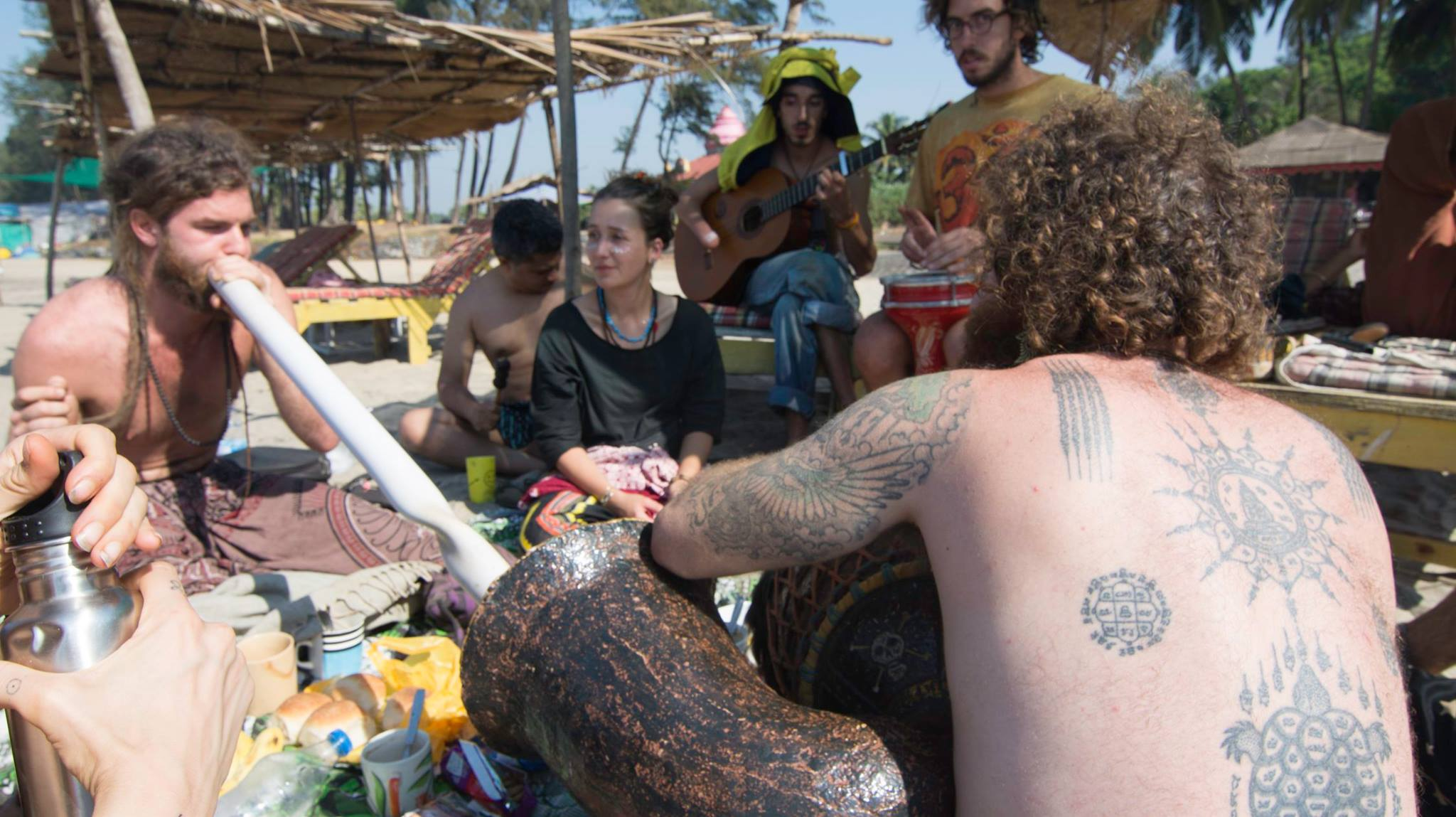 Hippie Goa! Keri and Arambol usually have a few hostels which brings diverse backpacker crowd to interact with
