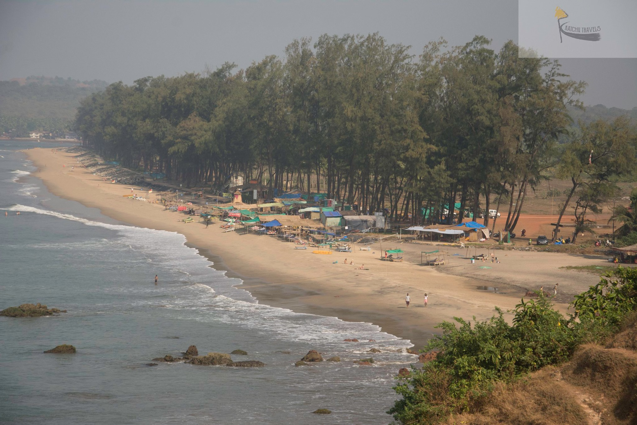 View of Keri Beach in North Goa (Getting to Querim Beach from Calangute takes 60 mins to cover 32 kms)
