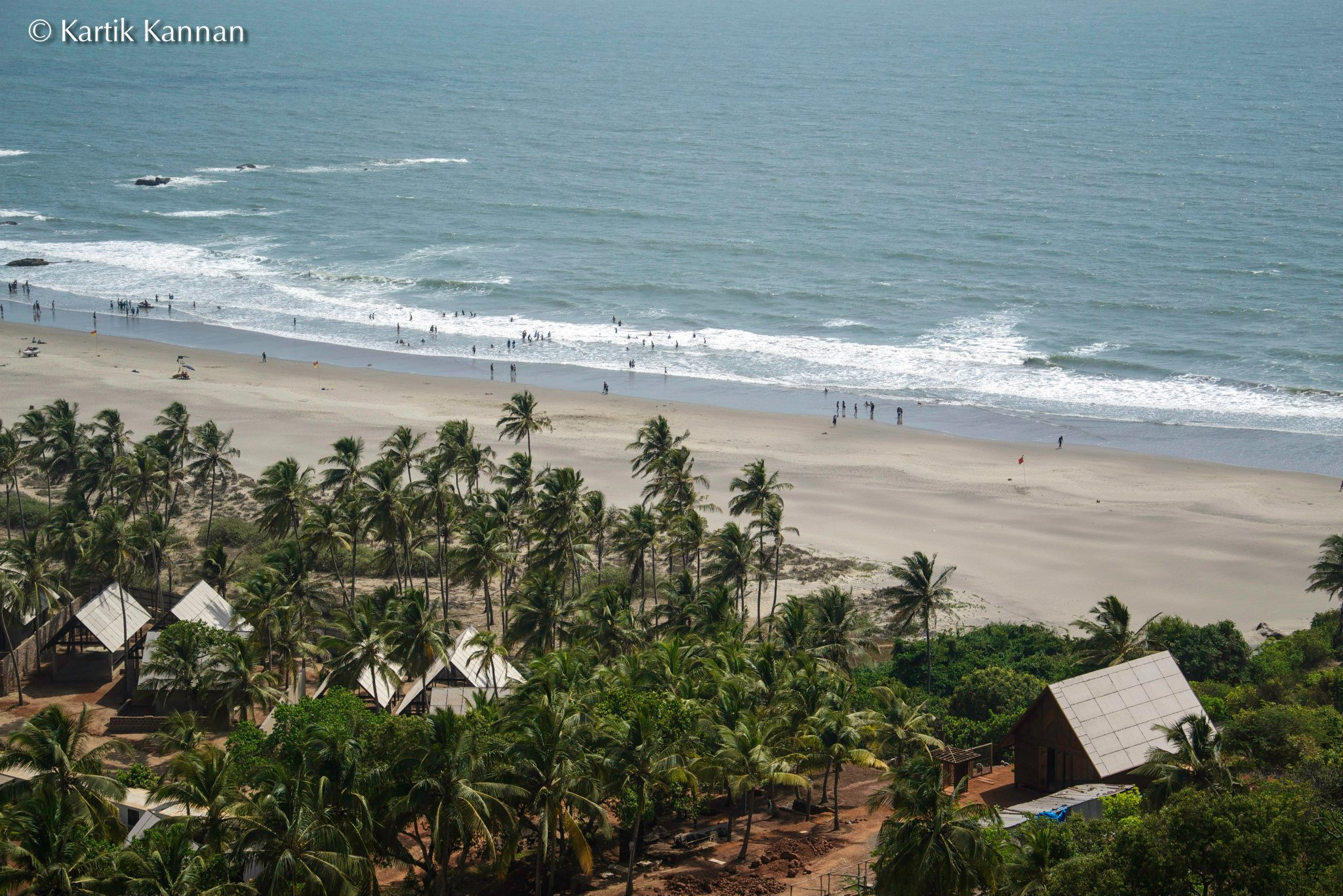 Vagator Beach North Goa. Famous for its proximity to rave parties, flea markets