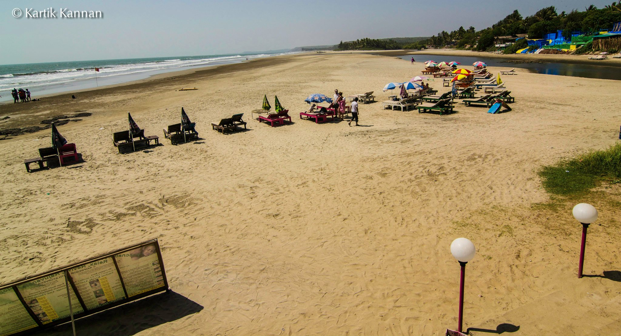 Aswem Beach in north Goa, 20 km's from Calangute (40 mins)
