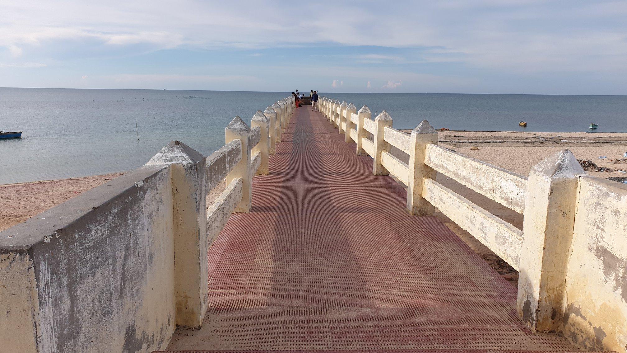 The little bridge into the sea- Villondi Theertham near Rameswaram