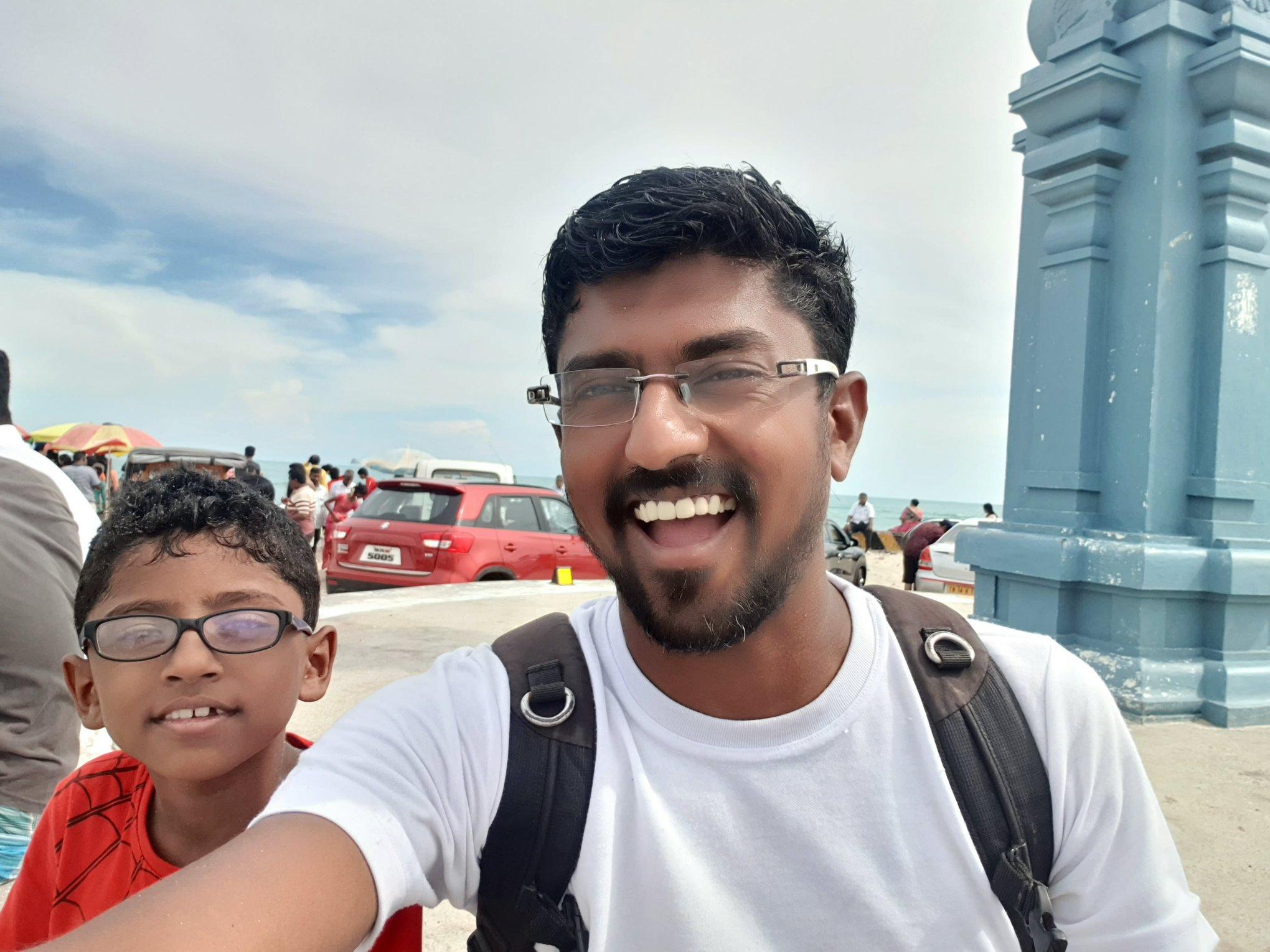 Posing at Arichal Munai near Dhanushkodi. This is India's last habitable landmass after which Sri Lanka begins in 18 kms