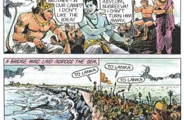 Reference to Vibeeshana made in the Ramayana at Dhanushkodi- Courtesy Amar Chitra Katha